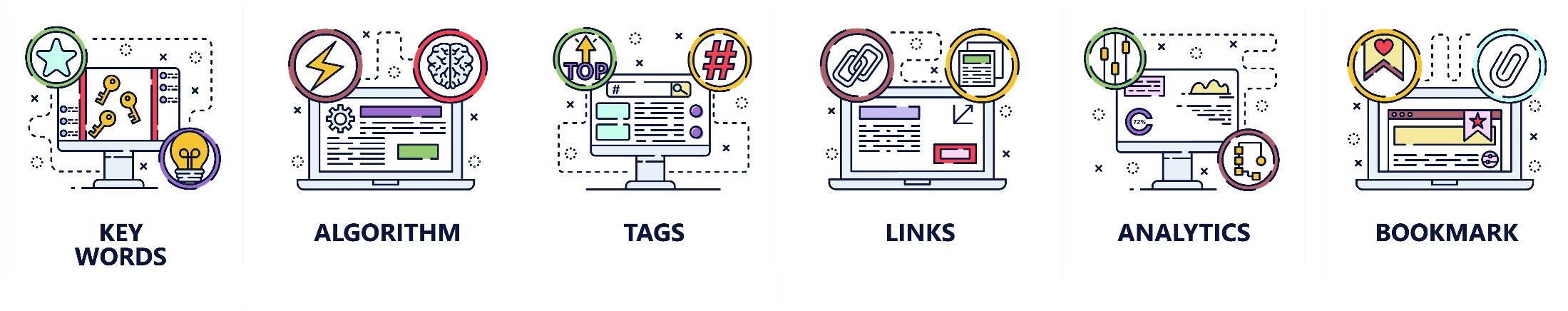 SEO, links building and digital marketing