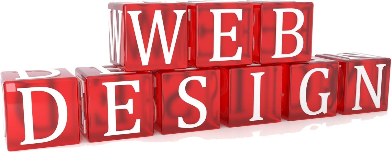 Web Design Cube Text